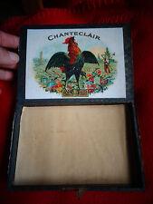 Ancienne Boite Vide de Cigares Mousquetaire Cigare au Coq Chanteclair