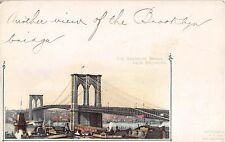c.1898?  Brooklyn Bridge Brooklyn NY Pioneer post card by Hermann Kohle