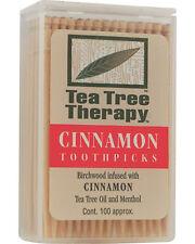 Tea Tree Therapy Toothpicks Cinnamon 100 ct, Tea Tree Therapy