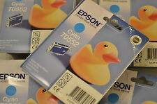 (PRL) EPSON T0552 CYAN LOTTO 2 CARTUCCE INCHIOSTRO LOT CARTRIDGES ORIGINAL INK