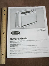 Carrier Air Conditioner Guide Owner's Manual Instructions Siesta & II Series