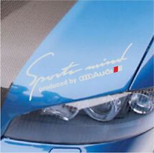 SPORTS MIND PRODUCED BY AUDI A3 A4 A5 A6 A7 A8 S4 S5 S6 DECAL STICKER SILVER 12""