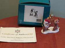 WDCC~LITTLE MISCHIEF MAKERS -ORNAMENT CHIP 'N DALE PLUTO'S CHRISTMAS TREE#411900