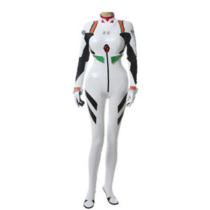 Anime Neon Genesis Evangelion EVA Ayanami Rei White Combat Suit Cosplay Bodysuit