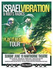 "ISRAEL VIBRATION / ROOTS RADICS ""PLAY IT REAL TOUR"" 2016 PORTLAND CONCERT POSTER"