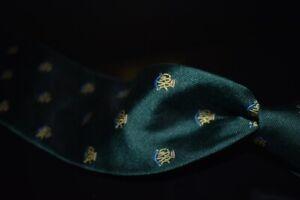 #1 MENSWEAR Goodwood England Drakes Silk Tie Racing Green GRRC Emblematic NR #14