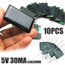 10pcs 5V 30mA Micro Mini Power Solar Cells Panel Board Set For DIY Toy 53*30mm^&