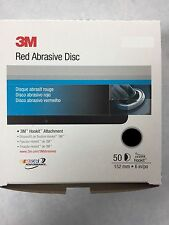 "3M™ 01187 6"" 800 Grit Red Abrasive Hookit™ Disc, 1187 - 50 Per Box"