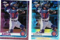 2019 Chrome Francisco Arcia 2- Card Lot  Cubs, Pink Prism RC