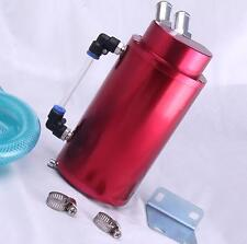 Oil Catch Can 15mm Fittings Universal Alloy Breather Tank Catcher Red Camcover