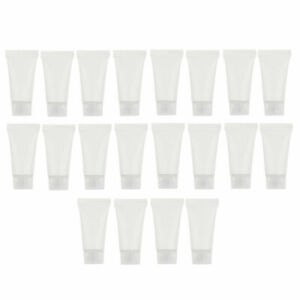 20x 5ml Hand Cream Squeeze Tubes Travel Refillable Sample Bottles Clear