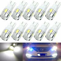 10pcs T10 W5W 5630 6-SMD 12V  LED Car Side Light Bulb Wedge Lamp 168 194 192 158