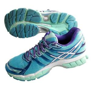 Asics Gel-Evate 3 Women's 9 Running Shoes T566N Lace Up Turquoise White Purple