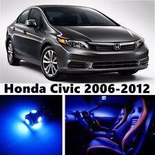 9pcs LED Blue Light Interior Package Kit for Honda Civic 2006-2012