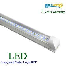 T8 LED 40W Tube Lights 8FT SMD2835 Integrated Lamp Fluorescent 6000K Bight White