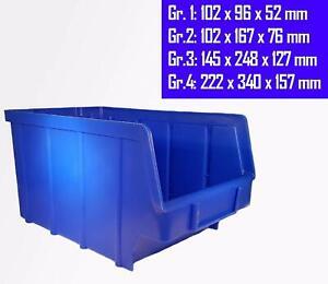 Stapelboxen Lagerboxen Gr. 1 - 4 blau Sichtlagerboxen Boxen Sichtboxen Lagerbox