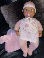 Annabell Baby Doll Zapf creations 2005 clothed  interactive tested and working