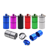 2 X HONEYPUFF Airtight Smell Proof Aluminum 2 Layers Stash Jar Container Box