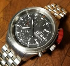 Nice Mens Thunderbirds Stainless Steel Automatic Chronograph Watch