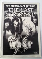 WASP The Last Command 1985 magazine ADVERT / Poster 11x8 inches