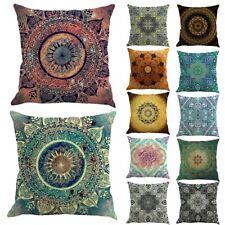 "18"" Bohemian Mandala Printed Throw Pillow Case Sofa Cushion Cover Home Decor Hot"
