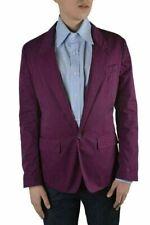 Dolce & Gabbana Men's Purple One Button Blazer Size US 38 IT 48