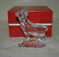 NEW BACCARAT SHEEP Zodiac Ram Sculpture Clear Crystal FRANCE 2807700 Aries Chine