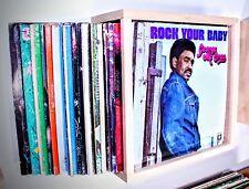 Album Storage Cases Vinyl Record LP Display shelf natural wood.