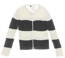 Grobstrick Strickjacke schwarz weiß N2 MARC CAIN SPORTS Streifen gestreift Gr.36