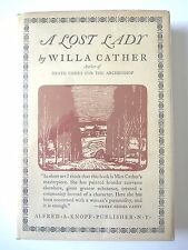A LOST LADY by WILLA CATHER 1952 FIRST EDITION 20TH PRINT HC w/ JACKET NOVEL VG+