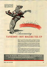 1946 PAPER AD Roy Rogers Horse Trigger Sackman Brothers Co Yankiboy Playsuits