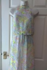 Miss Selfridge 60s 70s pastel pychedelic long maxi sun dress UK 4 BNWT