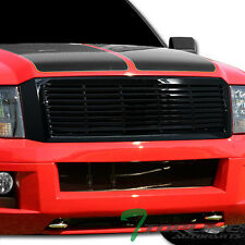 Topline For 2007-2014 Ford Expedition Horizontal Front Hood Bumper Grille - Blk