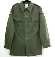 Mens Genuine DUTCH Military Shirt Field Army Combat Jacket Vintage coat Surplus