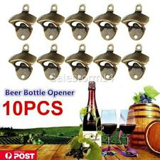 10 Pack Bottle Opener Wall Mounted Rustic Beer Opener Set Vintage Look  AU STOCK