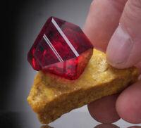 Pruskite crystals on matrix Poland red ruby like realgar, rhodochrosite, garnet