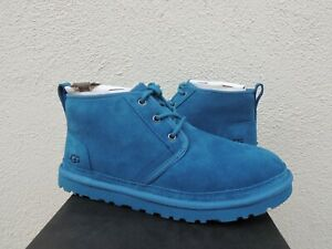 UGG NEUMEL BLUE SAPPHIRE SUEDE/ SHEEPWOOL ANKLE BOOTS, MEN US 8/ EUR 41 ~NEW