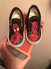 Deadpool Spiderman Toddler Vans Size 5.5