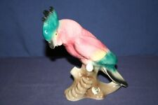 Colorful Royal Copley Cockatoo Sitting on a Branch Figurine #2