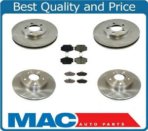 1996-1998 Lincoln Mark VIII 8 Front & Rear Brake Disc Rotors & Pads