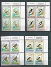 PAPUA NEW GUINEA 1993  SMALL BIRDS CORNER  BLOCKS 4 MNH SET NICE!