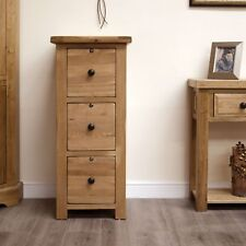 Original rustic solid oak office furniture large lockable filing cabinet