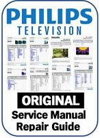 Philips Plasma LCD LED Smart 3D 4K TV Service Manual Repair Guide & Schematics