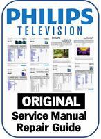 Philips Plasma LCD LED TV Service Manual Repair Guide & Schematics