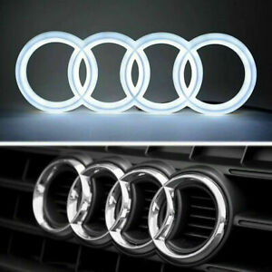 AUDI LED BADGE A1 A3 A4 A5 A6 FRONT GRILL GLOW LOGO EMBLEM RING White Blue Red