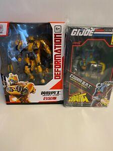 "GI Joe & Transformers LOT! CUSTOM PAINTED Deformable Bumblebee & 11"" Super7 BAT!"