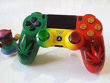 Manette PS4 Customisé à l'aérographe !!! Dualshock 4 Sixaxis custom rasta