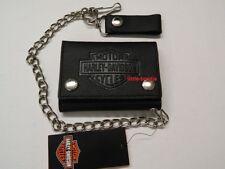Harley-Davidson Geldbörse LederPortemonnaie Geldbeutel Wallet Kette B&S XML3517
