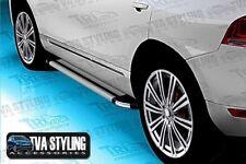 VW TOUAREG R-LINE 2003-15 Marche-pieds COURSE panneaux brillant argent