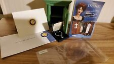 Franklin Mint Titanic Rose Safe & Necklace Heart Of The Ocean, Shipping Box